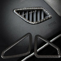 2X Real Carbon Fiber Outlet Vents Interior Trim Sticker Cover For BMW 3 4 Series