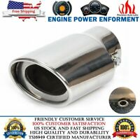 Universal Stainless Steel Car Rear Round Exhaust Pipe Tail Muffler Tip Chrome