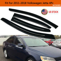 For 2011-2018 Volkswagen Jetta Smoke Window Vent Visor Sun Rain Guard Deflector