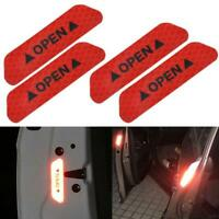 4x Safety Reflective Tape Open Sign Warning Mark Car Door Sticker Accessories US