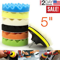 8 Pcs Buffing Pads Waxing Polishing Buffer Drill Sponge Kit For Car Polish Tool
