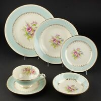 Dinner Bread Plates Cup & Saucers Soup & Fruit Bowls  Homer Laughlin Chateau