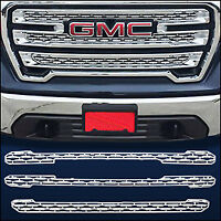 Chrome Grille Overlay / Trim FITS 2019 2020 GMC Sierra 1500 (SLT / AT4 ONLY!)