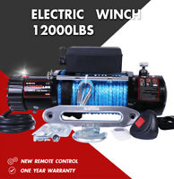 X-BULL Electric Winch 12000LBS 12V Synthetic Rope Towing Truck Off-Road Jeep 4WD