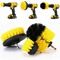 3 Power Scrubber Drill Brush Kit Clean Shower Tile Grout Automotive Clean Yellow