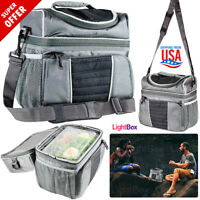Insulated Lunch Bag Tote Box 16-Can Travel Men Women Adult Food Thermal Picnic