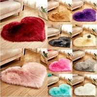 Fluffy Rugs Anti Skid Shaggy Area Rug Dining Room Bedroom Carpet Floor Mat Heart
