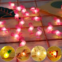 USA 2M LED Flamingo String Lights Birthday Party Decor Christmas Wedding Supply