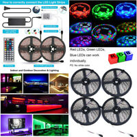 5M 10M 20M 3528 300 Flexible LED Strip Lights Roll Rope Tape RGB DC12V DIY Party