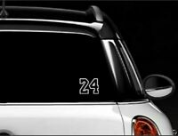 KOBE BRYANT #24 Basketball Vinyl Decal Sticker Car White 3