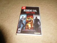 Resident Evil TRIPLE PACK 4 5 6 Nintendo Switch Game BRAND NEW FACTORY SEALED!