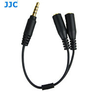 JJC Cable Adapter #SPY1 3.5mm TRRS Jack Cellphone to Microphone