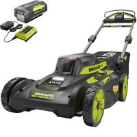 RYOBI Self-Propelled Lawn Mower 20 in. 40-Volt Lithium-Ion 7-Position Cordless