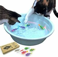 Interactive Swimming Robot Fish Toy for Cat with LED Light 4pc Set