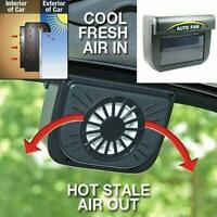 Auto Solar Powered Car Exhaust Fan Air Vent Cool Car Cooler Ventilation System