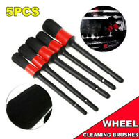 5pcs Car Detailing Brush Boar Hair Vehicle Auto Interior Wheel Clean Tool Kit