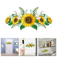 PVC Sunflower Wall Sticker Decals Removable Murals Kids Room Home Decor Supply