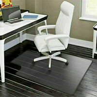PVC Protector Computer Desk Chair Mat For Hardwood Floor/Carpet Home Office US