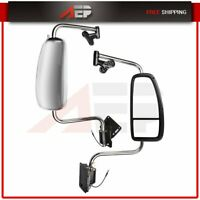 Truck Mirrors Pair Chrome Mirror Complete For 1997-2010 International 9200 9400I