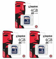 (3) Kingston 4GB SD Video Picture Memory Cards for Moultrie Trail Game Cameras