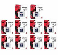 10 Kingston 4GB SD Video Picture Memory Cards - M80/M100/D55IR Trail Game Camera