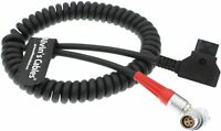 Red Scarlet Epic Camera Power Coiled Twist Cable 6pin Right Angle Female to Dtap