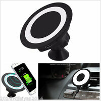 Car Wireless Charging Pad Dock Charger Holder For Samsung Galaxy S7 iPhone 6 6s