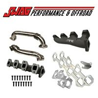 PPE RACE HIGH FLOW EXHAUST MANIFOLDS WITH UP-PIPES FOR TWIN TURBOS 01-15 6.6L