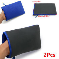 2x Car Wash Magic Clay Mitt Cloth Auto Care Cleaning Towel Microfiber Sponge Pad