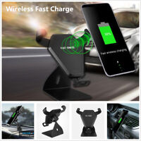 QI Fast Wireless Car Charger Dashboard Air Vent Mount Cell Phone Charging Holder