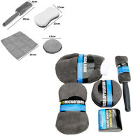 Car Cleaning Kit Superfine Fiber 9PCS Gray For Kitchen Office Tyre Body Wash Set