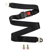 Universal Two Point Safety Security Belt Car Truck Seat Lap Adjustable + Screws