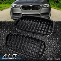 Black Front Hood Kidney Grille Grill For BMW F10 F18 5 Series 2010-2013