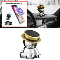 Gold 360° Rotation Magnetic Phone Mount Stand Holder Car Dashboard Accessories