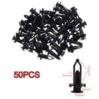 50x 9mm Hole Plastic Toyota Rivets Fasteners Push Clips Clip for Car Auto Fender