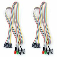 68cm ATX PC Desktop Case Power On Off Reset Switch Cable With 2 X LED Lights,