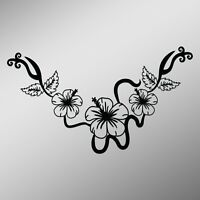 Hibiscus Flower Necklace Decal Sticker | 5.5-Inches By 3.2-Inches