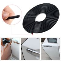 2M Black Car Door Moulding Trim Rubber Strip Scratch Protector Edge Guard