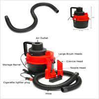 12V Wet Dry Vacuum Cleaner Inflator Portable Turbo Hand Held For Car Home Red
