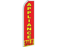 Appliance Sale Red / Yellow Swooper Super Feather Advertising Flag