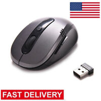 2.4GHz Wireless Optical Mouse USB 2.0 Receiver Adjustable PC Desktop Laptop GN