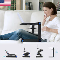 360° Adjustable Folding Laptop Table Lap Desk Bed Computer Tray Stand+Mouse Tray
