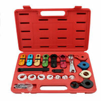 22pc Air Conditioning Fuel Oil Transmission A/C Line Disconnect Tools Set W/ Box