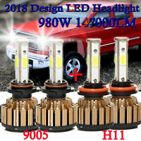 9005 + H11 Combo LED High Low Bulb Headlight Kit For Chevrolet Silverado 2500 HD