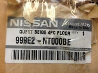Genuine OEM Nissan 999E2-NT000BE Beige Carpeted Floor Mats Set of 4 04-09 Quest