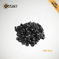 100pcs Black Plastic Car Wheel Tire Valve Stems Caps Tyre Lid Dust Covers