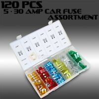 120 pc Assorted Car Fuse Auto Trucks SUV's Replacement fuses regular size blade