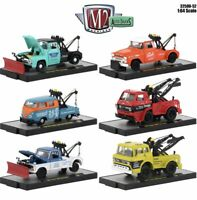 M2 Machines Auto Trucks Release 52: 1/64 Complete Set Of 6 Tow Trucks