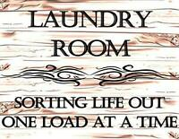 Laundry Room Sorting Life Out One Load at A Time Funny Quote Saying Sign sp156
