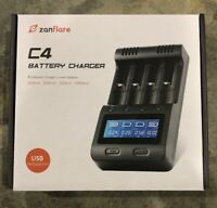 LCD Display Speedy Universal Battery Charger with Car Adapter Zanflare C4 Smart
